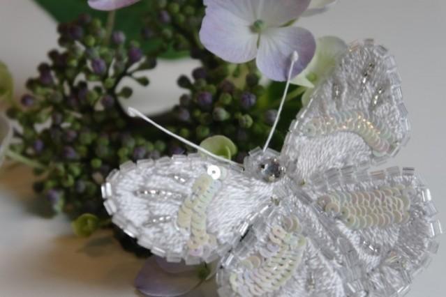Broche vlinder basiscursus broderie d'art