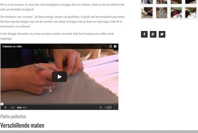 Voorbeeld van een instructie video in een online les.