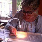 Licht bij borduren