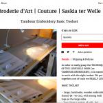 Online Shop met Borduurmaterialen