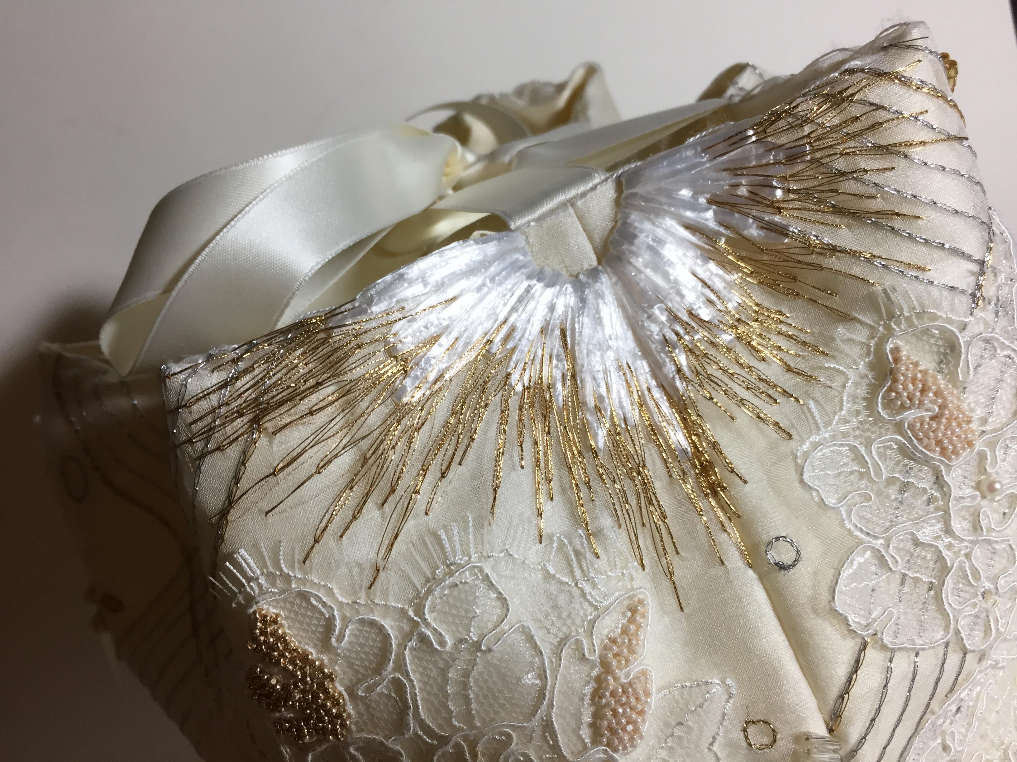 Patroon sluit prachtig aan op de naad! Werkstuk van Maria voor Mastering Borderie d'Art 2