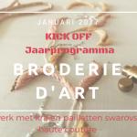 Jaarprogramma Broderie d'Art