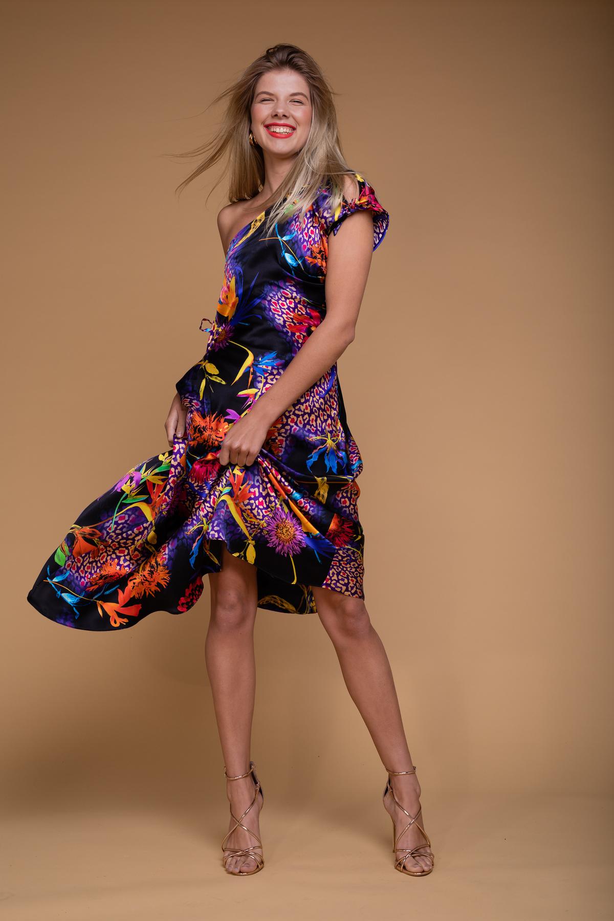Bias-draped dress by Saskia ter Welle