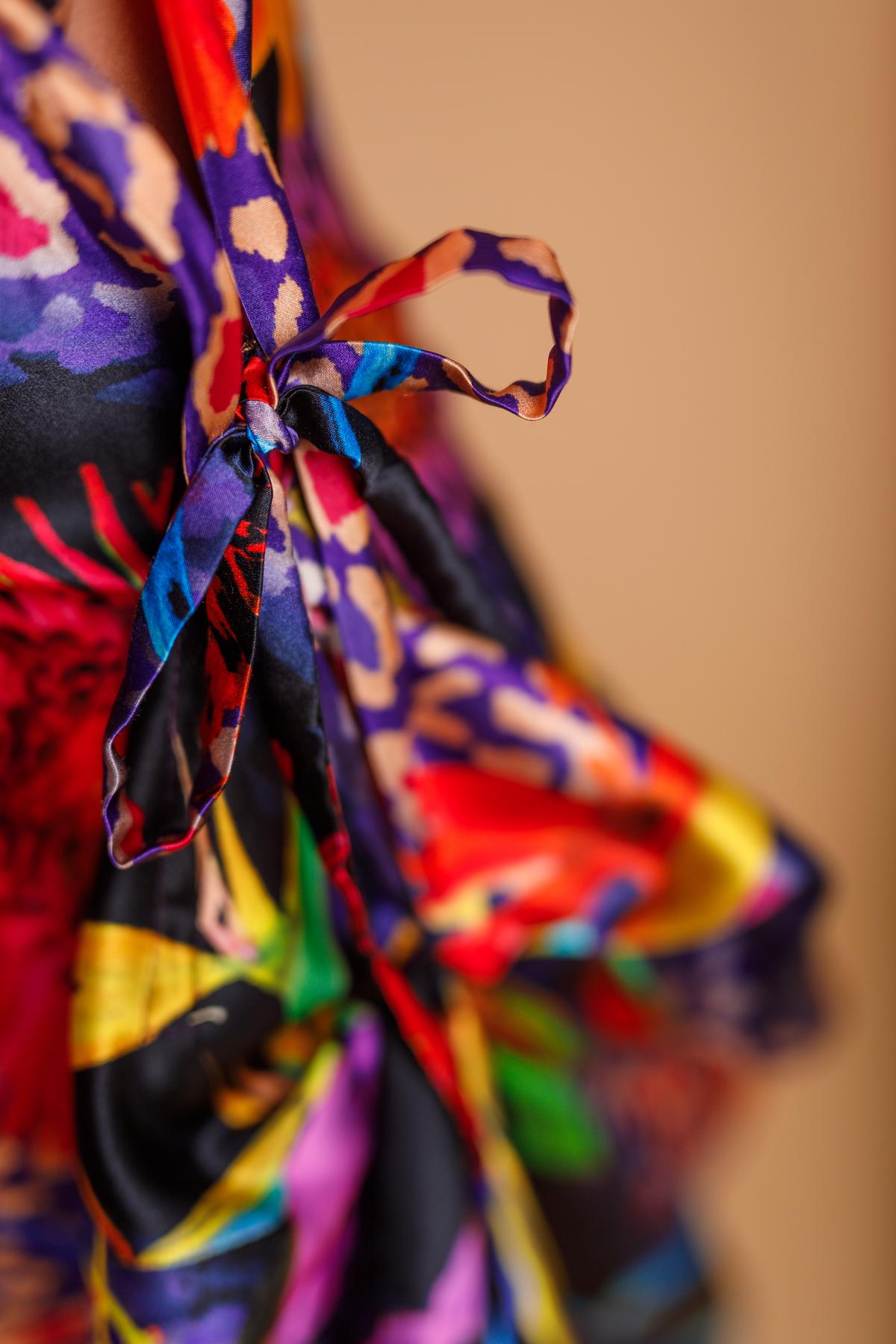 Detail bias draped dress by Saskia ter Welle