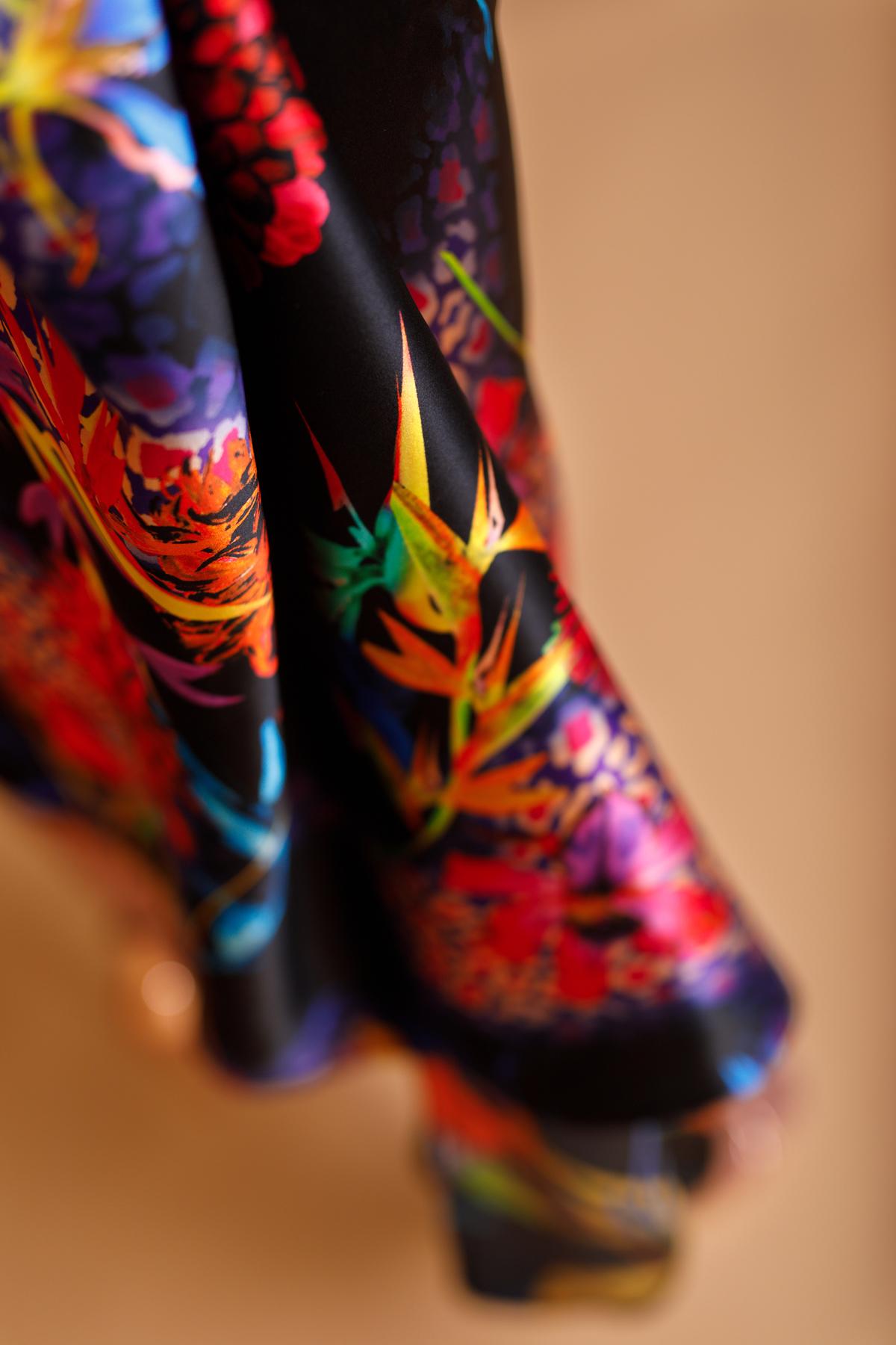Flowing silk dress by Saskia ter Welle